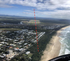 Sunshine Coast Airport plane landing on new runway